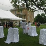 Wedding outside of the Manor House