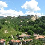 The view from Rozhen Monastery towards Rozhena Hotel
