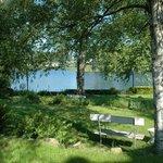 Vue sur le Lac de Robertville depuis l'hôtel