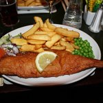 Gluten free fish and chips - yes really! Delicious!