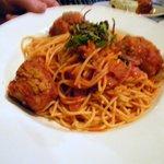 My husband's spaghetti and meatballs
