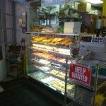 inside doughnut counter