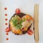 Salade de Lentilles Froide et Haddock sur toast