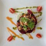 Salade de poulpe aux couleurs du sud