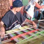 The process of making kain tenun in Sukarara