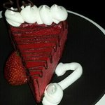 between the red velvet sheets cheese cake