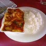 King Prawn Szechuan & boiled rice