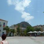 Main Square looking up at Palimidi