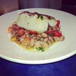 cod with borlotti beans