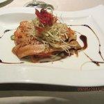 Titicacasee-Forellenfilet als Hauptgang eines Abendessens