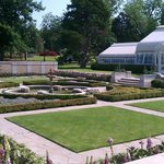 Tulsa Garden Center greenhouses and first garden