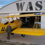 Pilot and Stearman flew in from Wisconsin