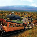 Cog Railway biodiesel climbs Mount Washington leaving  Marshfield Base Station behind in Fall