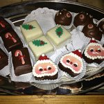 Special petits fours available around Christmas