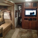 Inside of our rented RV camper