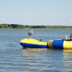 Water Trampoline With Blob and Attachments