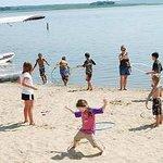 Hula Hoop Contest at Weekly Beach Party