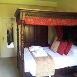 Derwent room, lovely comfy bed.