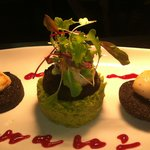 Scallops with Stornoway Black Pudding and Pea Puree