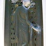 Entryway door to a mausoleum
