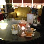 Tea time in hotel lobby (best wifi coverage in hotel)