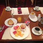 My standard breakfast selection every morning (coffee is great to be in KSA!)