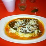 Chili relleno - scrumptious!  Not deep fried!