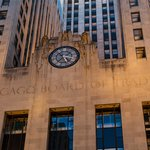 CBOT Entrance Clock and Sculpture