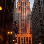 CBOT at Dusk Looking South down LaSalle