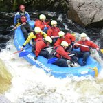 Rafting on the mighty Findhorn