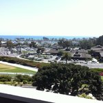 """View from room taken with cell phone.  Harbor appeared closer """"in person""""."""
