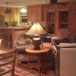 Living room / kitchen area in Lily Pad Upper