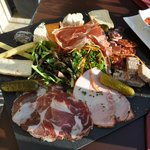 Large and delicious charcuterie plate