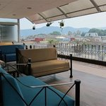Comfortable seating on the Rooftop Deck