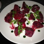 The beet and goat cheese salad - beautiful!