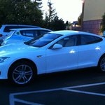 Charging Tesla at Super 8 Ukiah