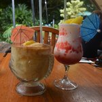 Frozen mai tai and lava flow