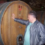 Guido explaining the wine making process