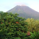 View of Arenal Volcano from our room.