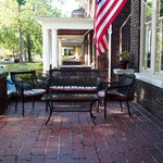 Front porch ready for Memorial Day