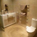 Huge bathroom.