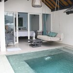 Our room and private plunge pool
