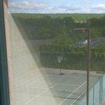 Basketball court on Tennis court