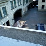 Room 317 view of dumpster and parkade entrance