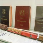 Some of the train memorablia