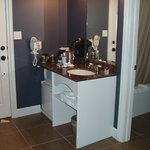 Vanity area in one of the rooms we've stayed in
