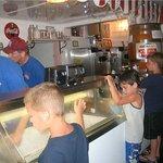 Anxiously awaiting their ice cream....