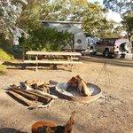 The Campfire area at Spear Creek Station Caravan Park