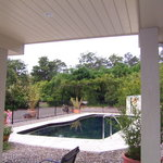 11.3m Saltwater pool with garden view