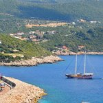 The view of Kas harbour.
